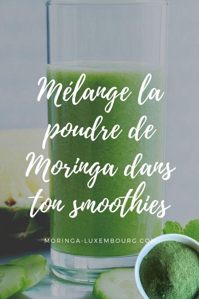 Ajoute du Moringa à ton breuvage énergétique du matin pour bien démarrer ta journée