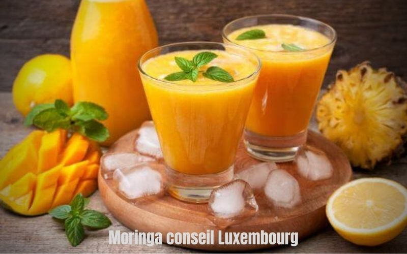 Smoothie banane-citron-mangue-orange - moringa - tonka