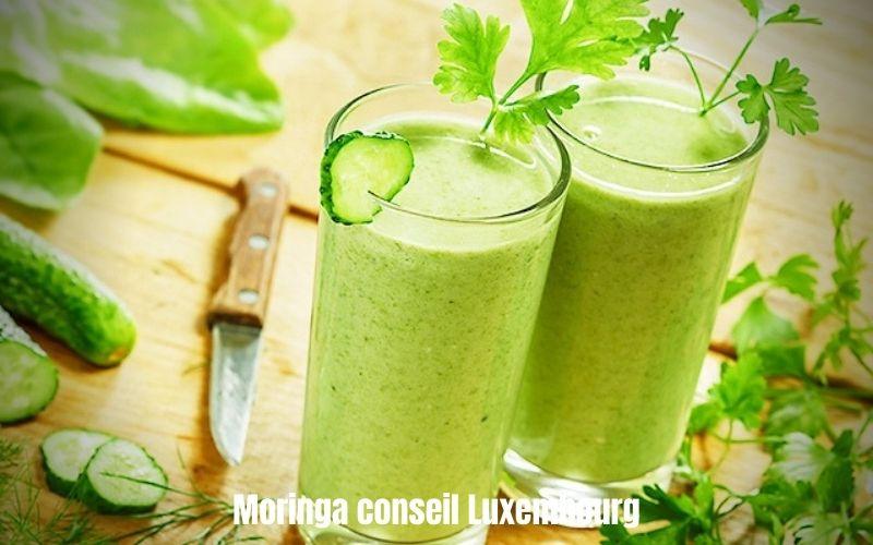 Smoothie concombre-courgette-blette-citron et Moringa
